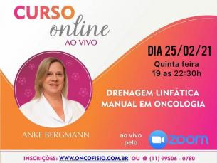 Curso Online ao vivo: Drenagem linfática manual em Oncologia - Turma 2