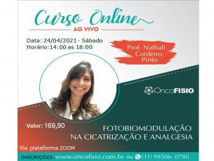 Curso online ao vivo: Fotobiomodulação na Cicatrização e Analgesia - Turma 3