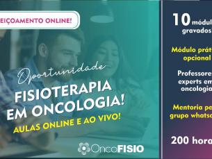 Aperfeiçoamento online em Fisioterapia em Oncologia - 200h TURMA 2