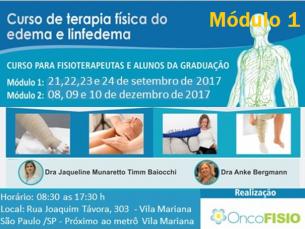#ESGOTADO# Curso de formação em terapia física do edema e linfedema - MÓDULO 1