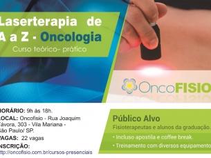 Curso de Laserterapia de A a Z Oncologia - Teórico Prático de fotobiomodulação Turma 3